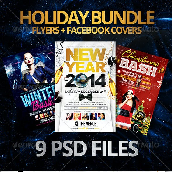 Holiday Bundle   Flyers + FB Covers