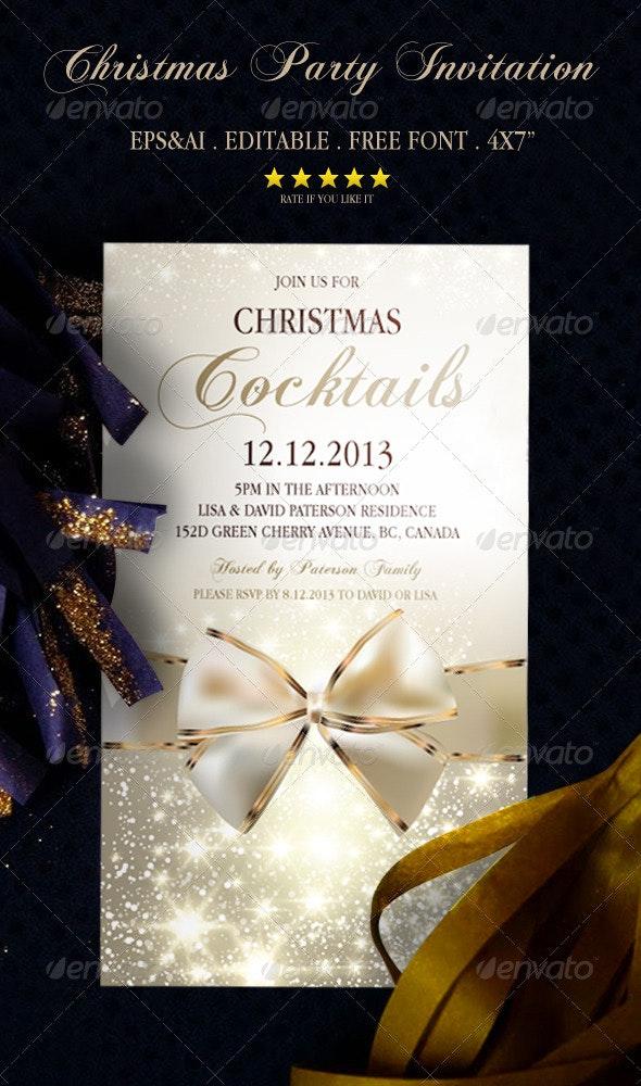 Christmas Party Invitation 1 - Invitations Cards & Invites