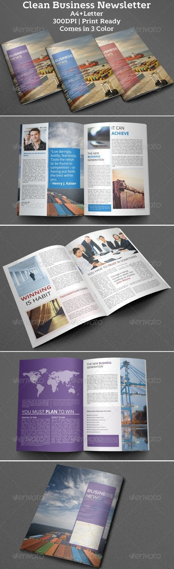 Clean Business Newsletter - Newsletters Print Templates