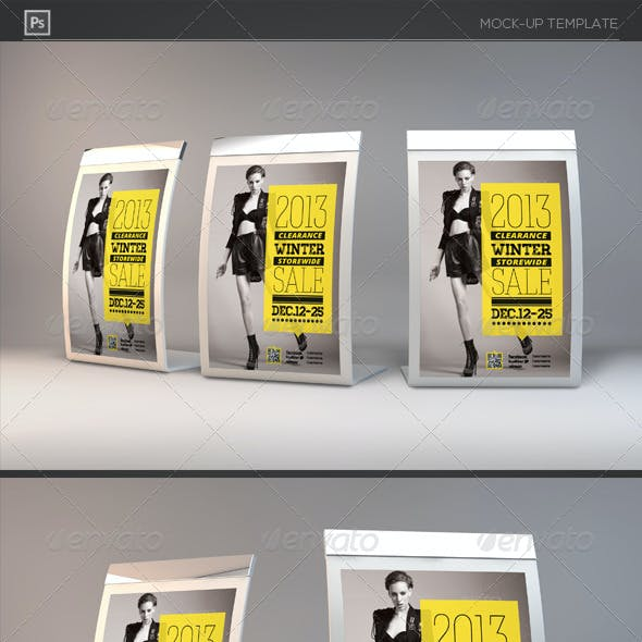Photorealistic Counter Top Display Mock-Ups