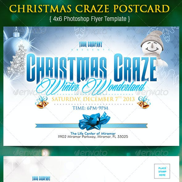 Christmas Craze Postcard