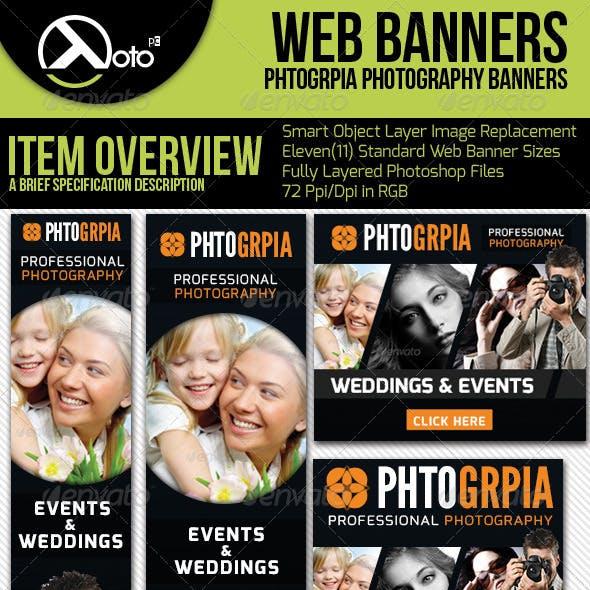 Photographia Professional Photography Web Banners