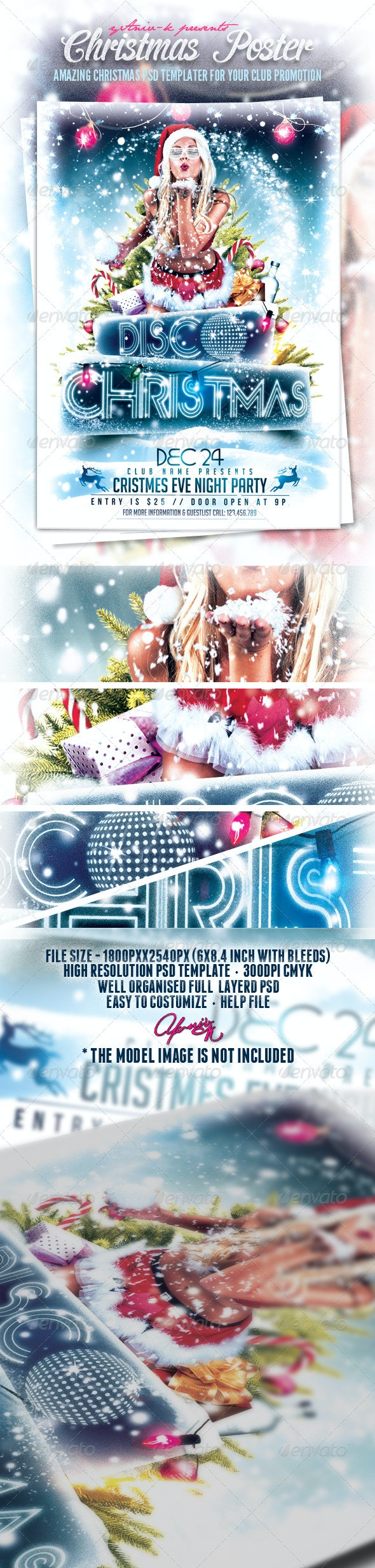 Christmas Event Flyer Template - Flyers Print Templates
