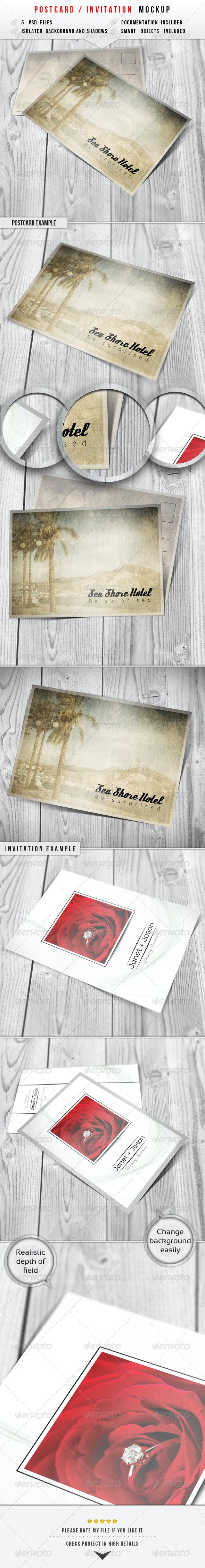 Postcard & Invitation Mockup - Miscellaneous Print