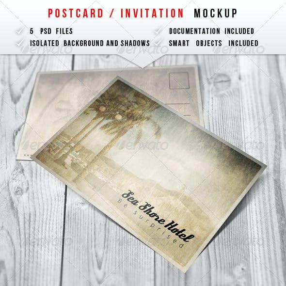Postcard & Invitation Mockup
