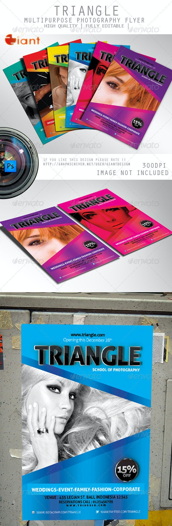 Triangle Multipurpose Photography Flyer - Corporate Flyers