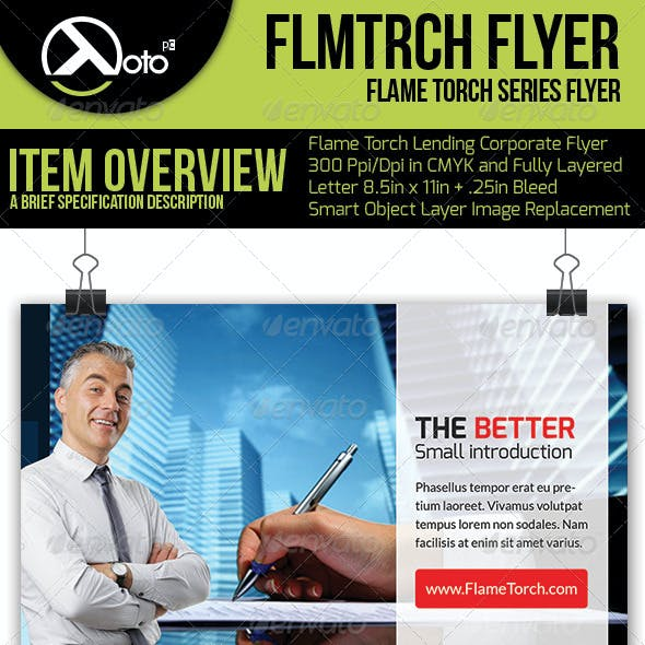 Flame Torch Corporate Lending Flyers