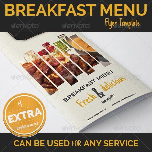 Breakfast Menu design + 1 Extra