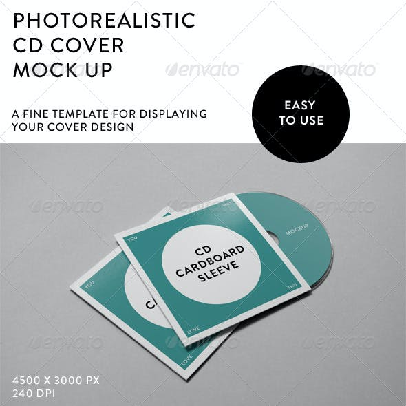 Photorealistic CD Cover Mock-Up