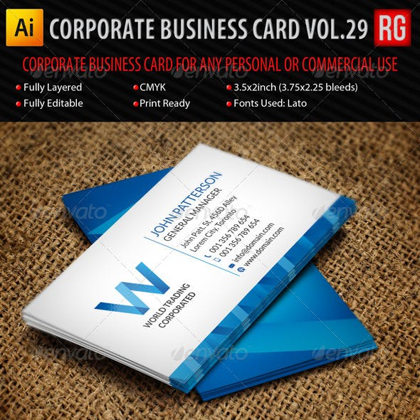 Corporate Business Card Vol.29