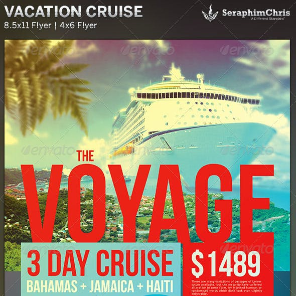 Vacation Cruise: Travel Flyer Template