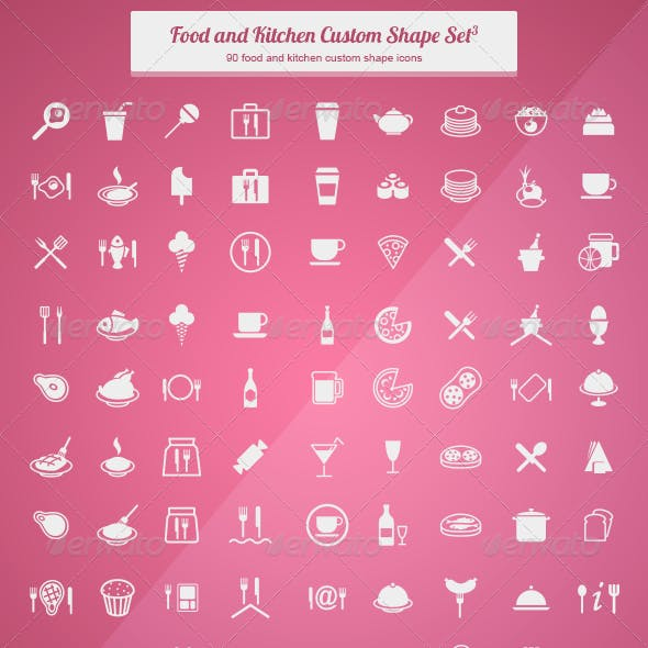Food and Kitchen Custom Shape Set 3