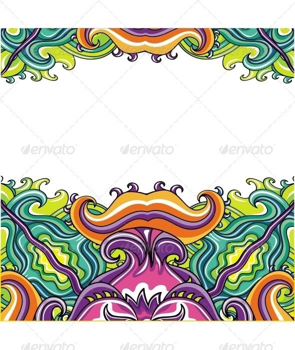Decorative Floral Card Series  - Flourishes / Swirls Decorative