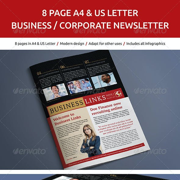 8 Page Business and Corporate Newsletter No.2