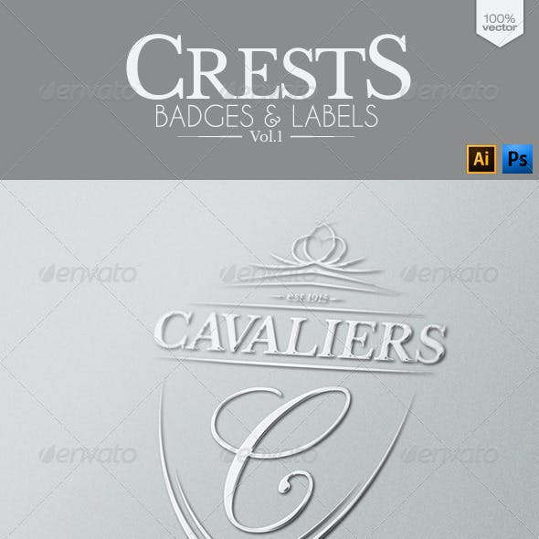 Crests Badges and Labels Vol.1