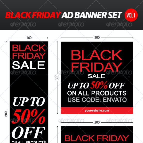 Black Friday Ad Banner Set vol.1