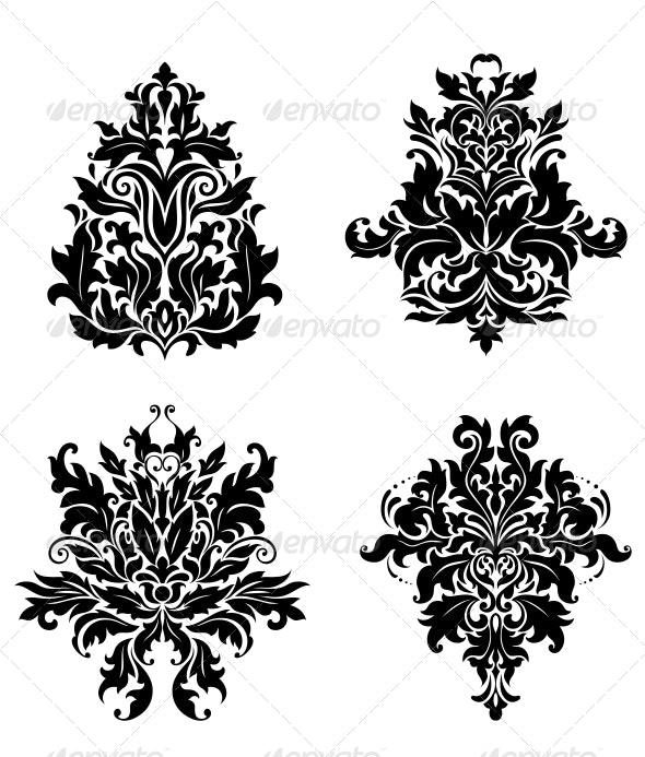 Vintage Damask Patterns - Patterns Decorative