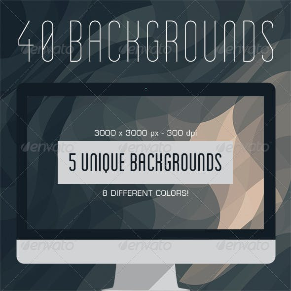 40 Geometric Backgrounds