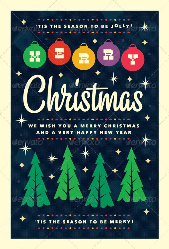 Merry - Christmas Flyer Template - Holidays Events