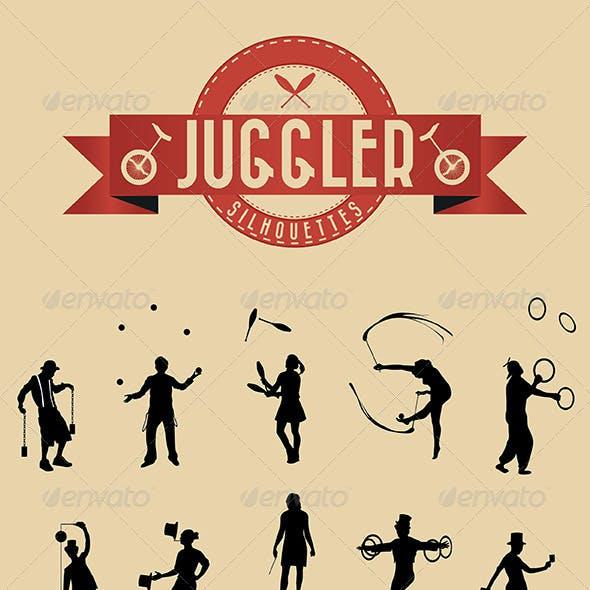 21 Jugglers Vector Silhouettes