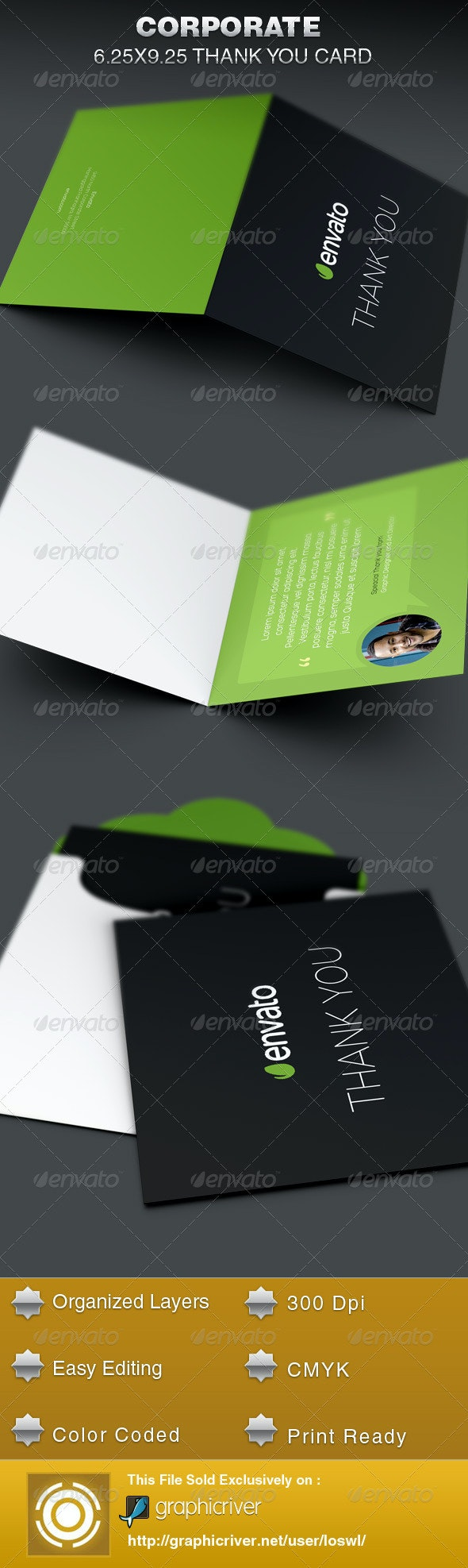 Corporate Thank You Card Template - Cards & Invites Print Templates