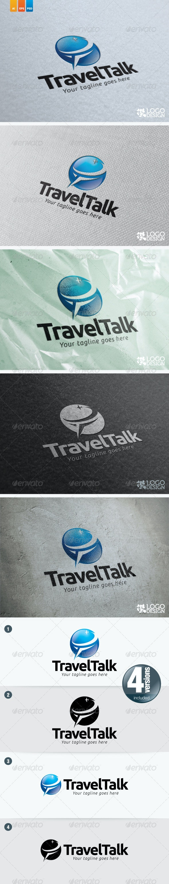 Travel Talk - Objects Logo Templates