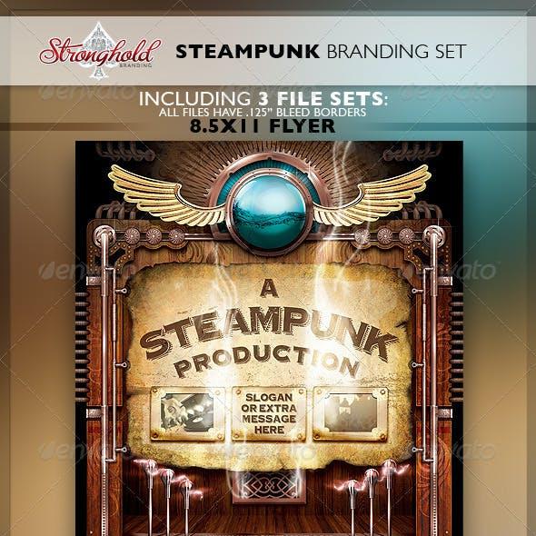 Vintage Steampunk Brand Flyer Set