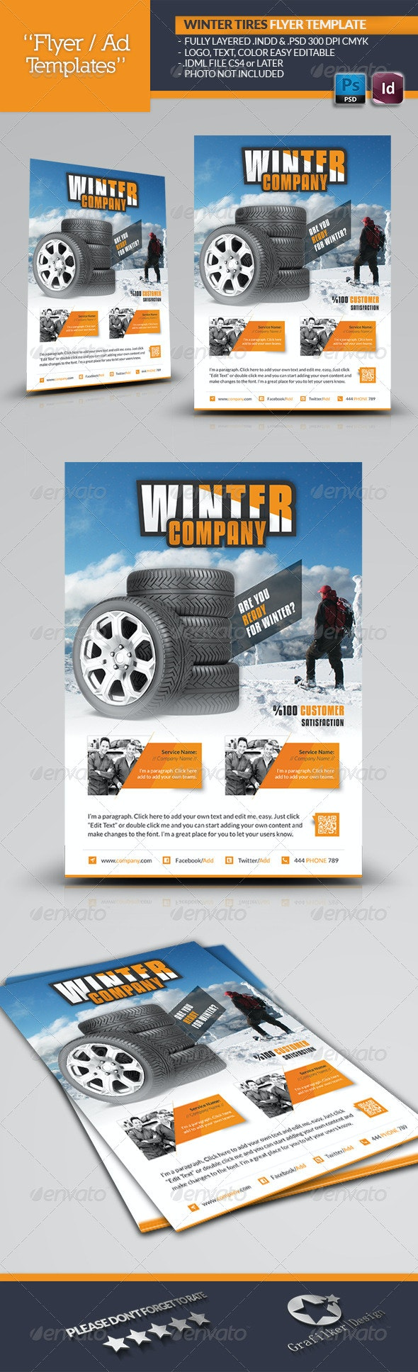 Winter Tires Flyer Template - Corporate Flyers