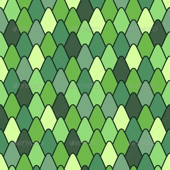 Seamless Pattern with Stylized Scales.