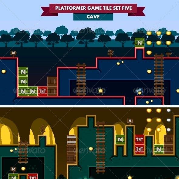Platformer Game Tile Set Five