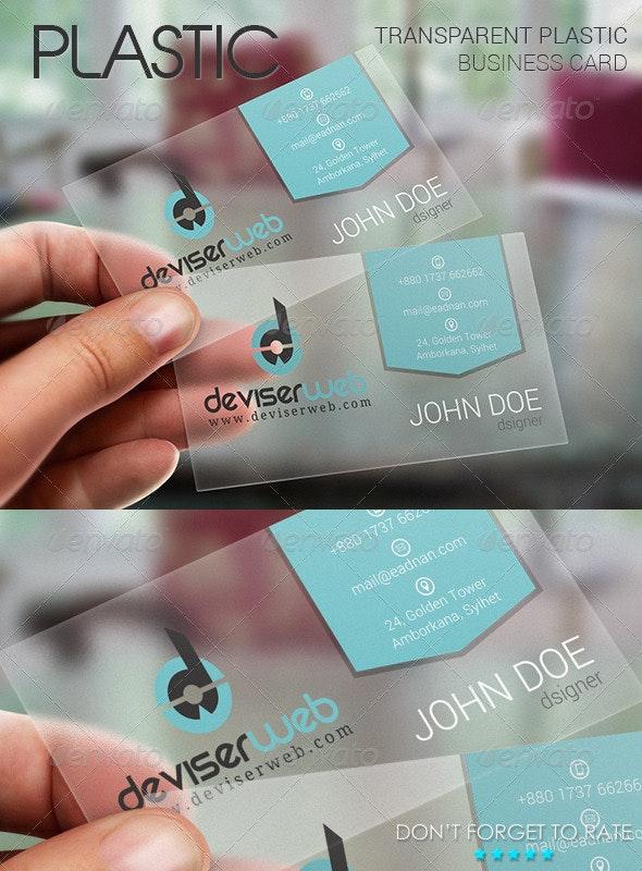 Transparent Plastic Business Card - Creative Business Cards