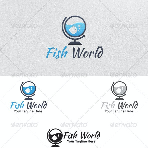 Fish World - Logo Template
