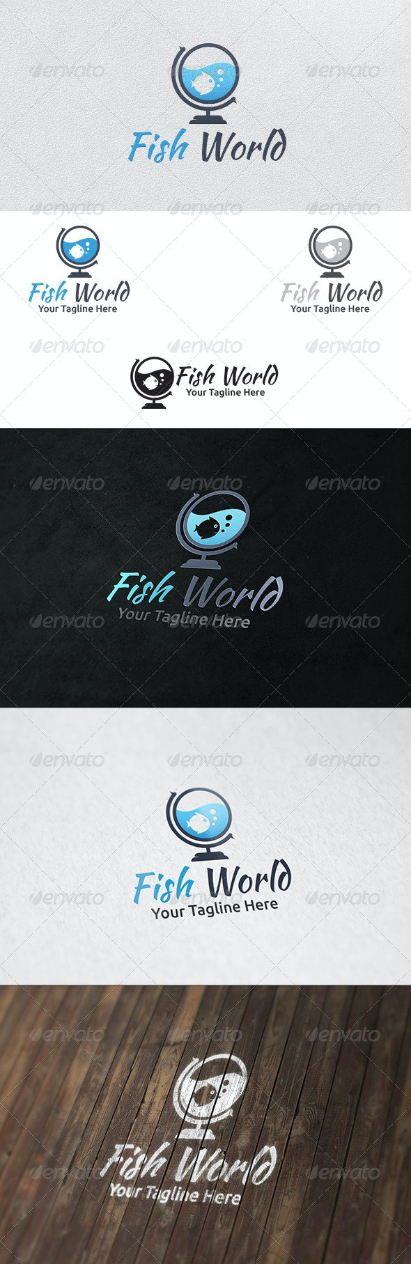 Fish World - Logo Template - Animals Logo Templates