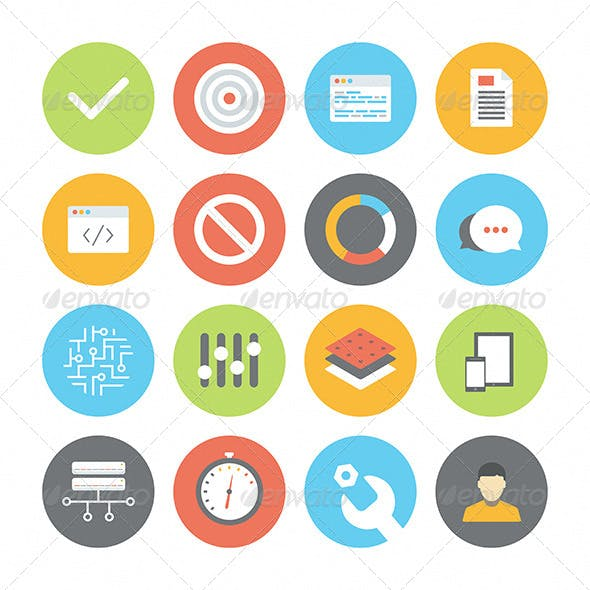 Web and UI Flat Icons Set