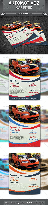 Automobile Business Flyer | Volume 3 - Corporate Flyers
