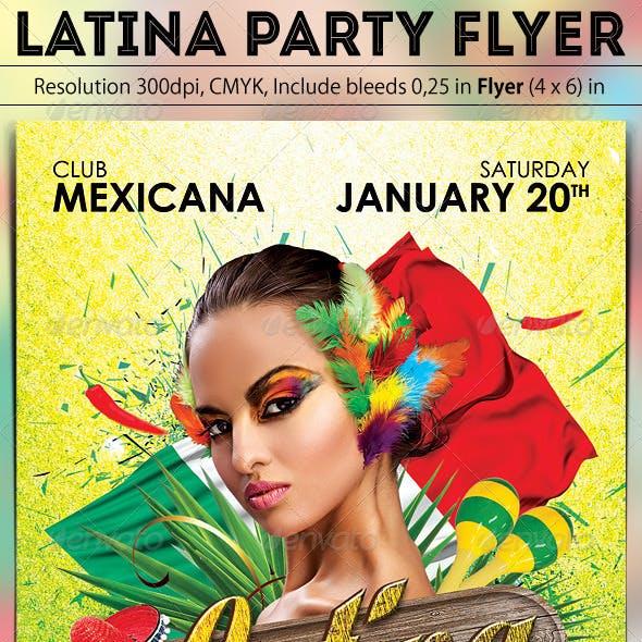 Latina Party Flyer