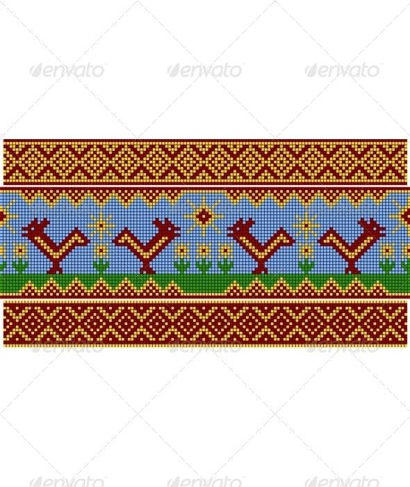 Russian pattern. Set - Patterns Decorative