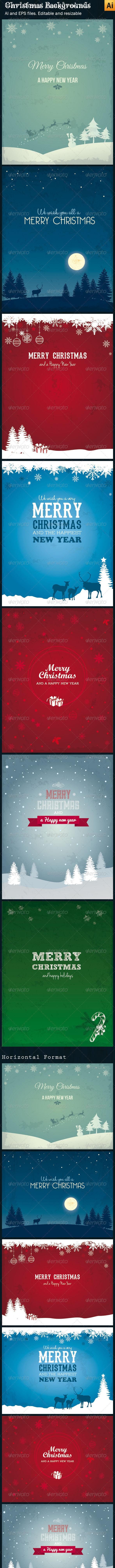 Vector Christmas Backgrounds - Christmas Seasons/Holidays