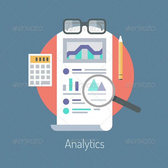 Analytics and Statistics Illustration