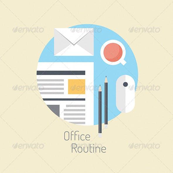 Business Lifestyle Flat Illustration