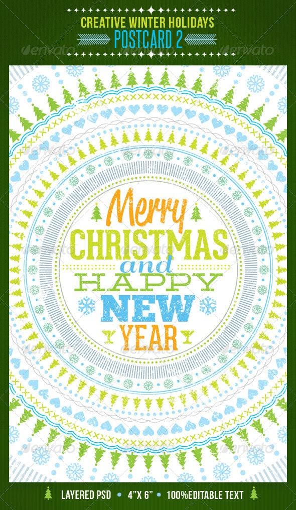 Creative Winter Holidays Postcard 2 - Holidays Events