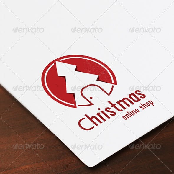 Christmas Shop Flat Logo