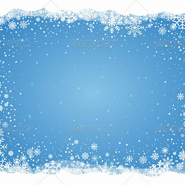 Frosty Snowflakes Background