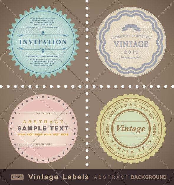 Vintage Labels - Decorative Symbols Decorative