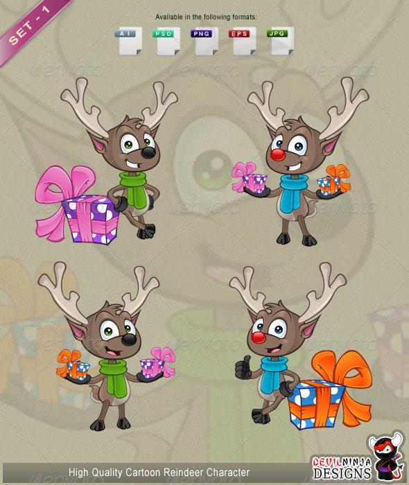 Cartoon Reindeer Set 1 - Animals Characters