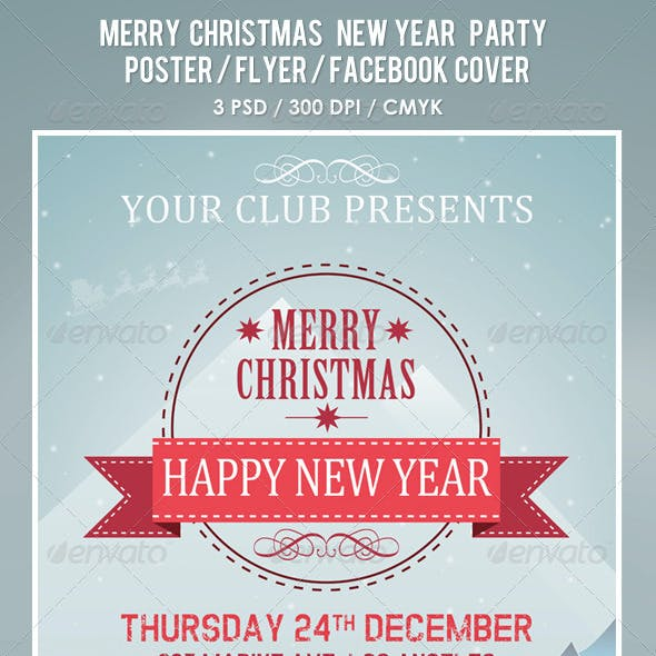 Christmas New Year Party Poster / Flyer / Facebook