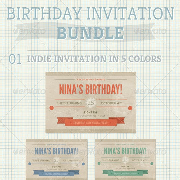 Birthday Invitation Bundle