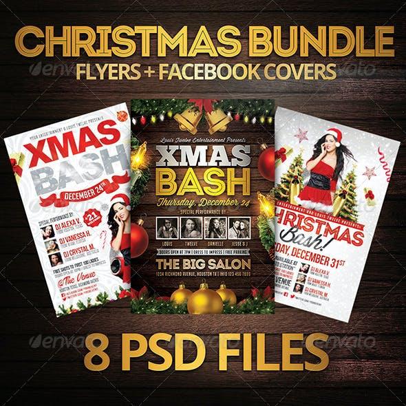Christmas Bundle   Flyers + FB Covers