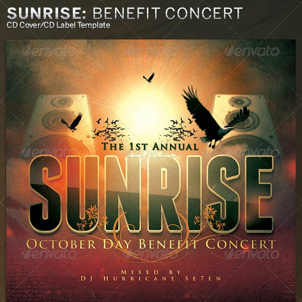 Sunrise Benefit Concert: CD Cover Artwork Template