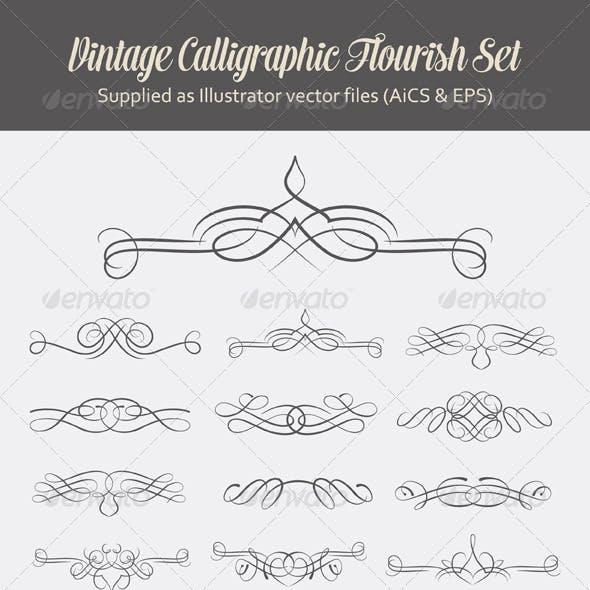 Decorative Calligraphic Flourishes